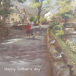 Wildart Sunday lunch at Barley fathers  personalised online greeting card