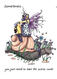artistic fairy, fantasy, positive quotes personalised online greeting card