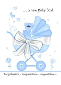 New Baby Boy personalised online greeting card