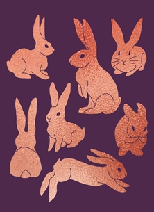 Rose Gold Bunnies