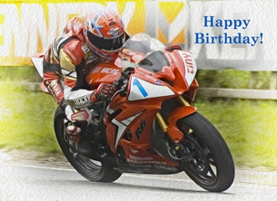 Birthday birthday, for-him, motorcycle, motorbike, bike, racing, racer, photograph personalised online greeting card