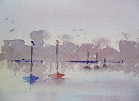 General Boats, sailing, yachts, Norfolk, Broads, evening, calm, restful, tranquil,  personalised online greeting card