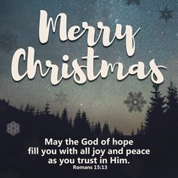 Christmas  may the god of hope merry  greeting card made with love by raluca curcan who make money  christian meaningful bible verse z%a personalised online greeting card