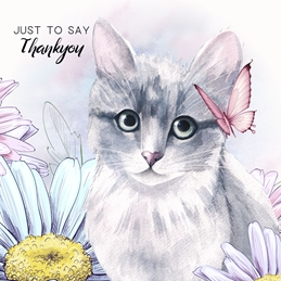 Thank THANKYOU cats personalised online greeting card
