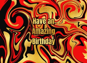 Snappyscrappy Birthday Card Birthday Marble, Abstract, For-Him, For-Her personalised online greeting card
