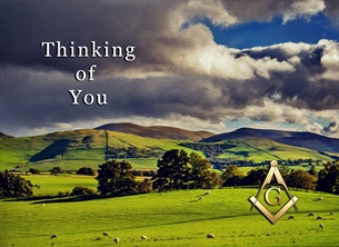 Thinking  Masonic personalised online greeting card