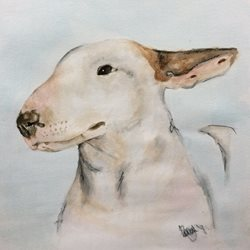 art English Bull Terrier dog, animals z%a personalised online greeting card