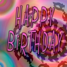 Birthday bright, personalised online greeting card