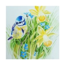 art birds flowers animals personalised online greeting card