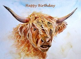 Birthday artwork cows animals  for-him for-her personalised online greeting card