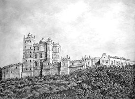 Art castle Bolsover trees landscapes buildings z%a personalised online greeting card