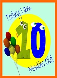 Birthday Colourful Balloons 10 personalised online greeting card