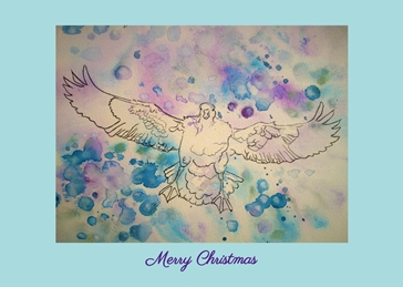 Christmas christmas duck animal winter personalised online greeting card