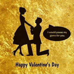 Valentines Gamer, Love, Valentines Day personalised online greeting card