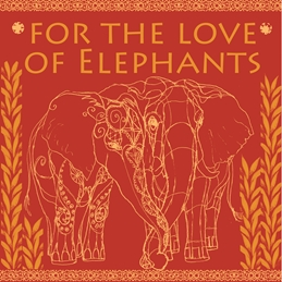 General Elephants, India-inspired, exotic animals, endangered species, conservation personalised online greeting card