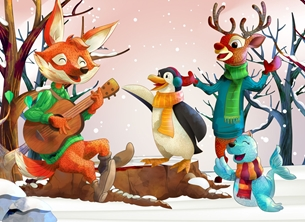 christmas christmas animals children personalised online greeting card