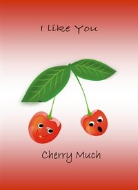 General Cherries smiling face red green happy  z%a personalised online greeting card