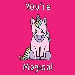 Dottie Mottie You're magical unicorn General Children Valentine's Day Wedding Anniversary Birthday her girls Unicorn magical mystical horse kawaii animal zoo bright colours cute personalised online greeting card