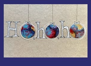Christmas  bauble, Ho, Ho, Ho, personalised online greeting card