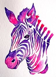 art artwork zebra animals zoo wildlife for-him for-her personalised online greeting card