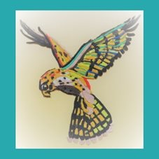 General  bird. kestrel. fly. colourful, for-him, for-her personalised online greeting card