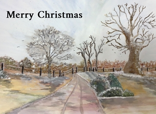 Xmas snow personalised online greeting card
