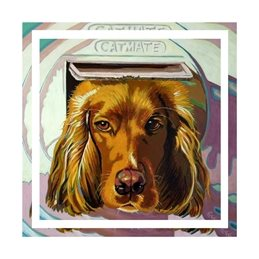 art dog, spaniel, pet, animal, personalised online greeting card
