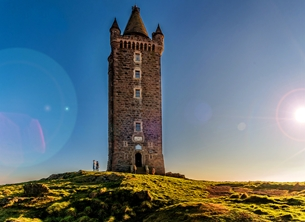 NorthLight Photo-Art Scrabo Tower 2 Photography andbc, Scrabo Tower, landscape, scenic, countryside, peaceful, tranquil, Strangford Lough, Ards Peninsula, Newtownards,  personalised online greeting card