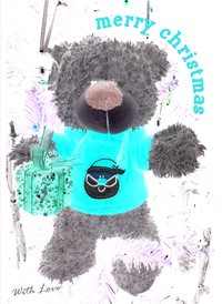 Quirkytags... CHRISTMAS TED  personalised online greeting card