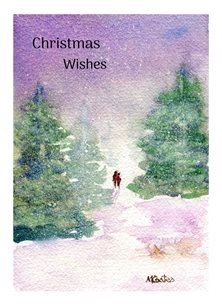 MC Design Christmas Wishes 2 Christmas snow, landscape, watercolour personalised online greeting card