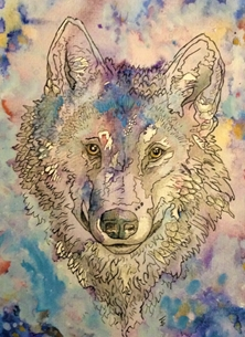 art Wolfs Animals wolves personalised online greeting card
