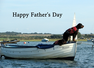 Fathers for-him father dad dogs boats personalised online greeting card