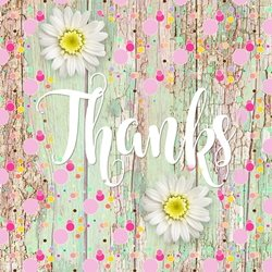 Thanks Wood, Flowers,  personalised online greeting card