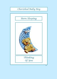 sympathy Teddy Bear Moon Blue Sad  z%a personalised online greeting card
