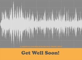 Lulu, Bobs & Roo Get Well soon soundwave art card Well music  art personalised online greeting card
