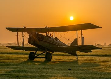 Photography Aeroplane, airplane, aviation, flying, sunrise, WW1 personalised online greeting card