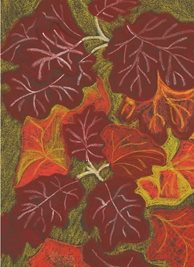General artistic painting  autumn leaves personalised online greeting card