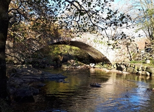 photography bridge, cumbia, boot, Eskdale, river, tranquill,  multiple personalised online greeting card