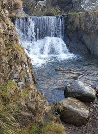 General waterfall  cumbria fells lake district personalised online greeting card