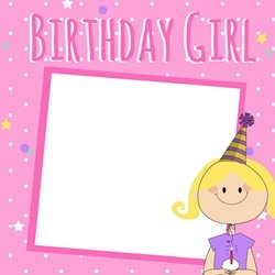 PinkWave Designs Birthday girl birthday children  Daughter, happy personalised online greeting card