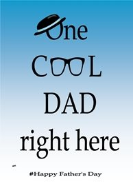 Fathers Dad  Dad Daddy Glasses Hat Blue White Black  personalised online greeting card