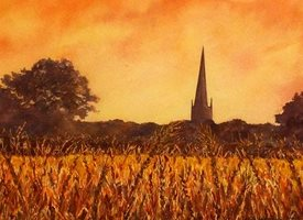 art harvest autumn corn church dad son  granddad  uncle mum daughter Nan aunt friend personalised online greeting card