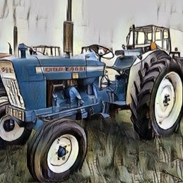 General Tractor. vintage, farming, lake district, Cumbria, northwest England, field, show,  personalised online greeting card