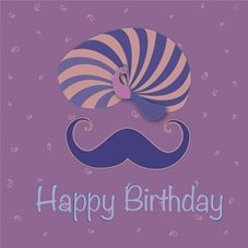 Birthday HAPPY  TURBAN, MOOCHI,  personalised online greeting card