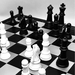 Photography general Chess, sport, game, cards, board games, black, white, general, blank,  personalised online greeting card