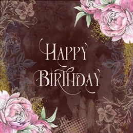Birthday Vintage Style, Shabby Chic, Floral, for-her, for-him personalised online greeting card