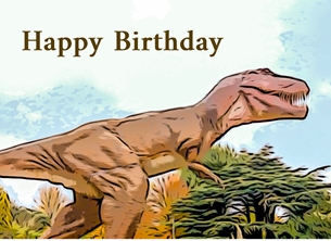 birthday children CHILDRENS, Birthday , Children, boys, girls, son grandson his dinosaurs t-Rex  child  Tyrannosaurus Rex for-him for-her for-child personalised online greeting card