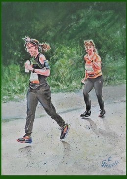 art run, runner, running, happy, friends, friendship, laughter, for-her personalised online greeting card