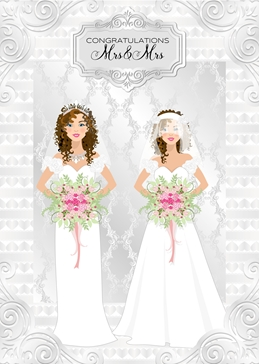 Wedding LGBT WEDDING LGBT personalised online greeting card