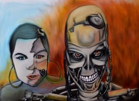 General Terminator Jessie-J  personalised online greeting card
